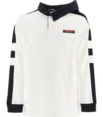 y/project two-tone polo shirt