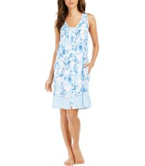 miss elaine floral-print nightgown