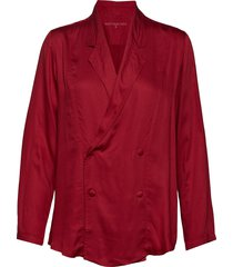outgoing jacket blus långärmad röd moshi moshi mind