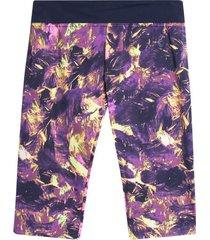legging capri estampado lila color morado, talla s