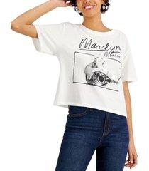 hybrid juniors' marilyn monroe-graphic t-shirt