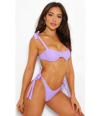 mix & match bikini top met grotere cupmaat en beugel, lila