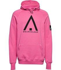 bowl hood hoodie trui roze wearcolour