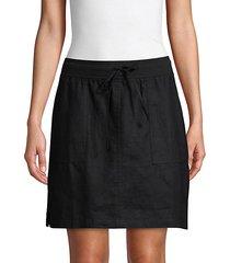 a-line linen skirt