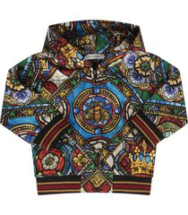 dolce & gabbana multicolor sweatshirt for baby boy with colorful print