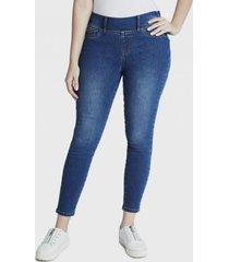 jeans pitillo con aplicaciones celeste curvi