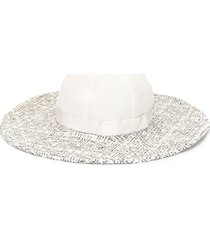 chanel pre-owned cc bow sun hat - white