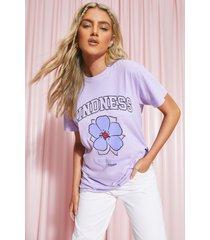 oversized kindness t-shirt, purple