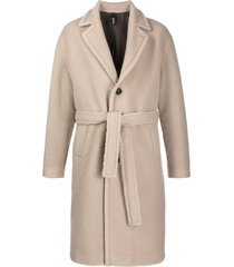 hevo belted single-breasted coat - neutrals