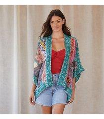 colorful conversations kimono