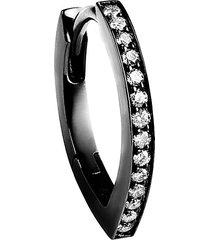 'antifer' diamond black gold earrings