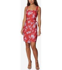 betsey johnson petite floral-print a-line dress