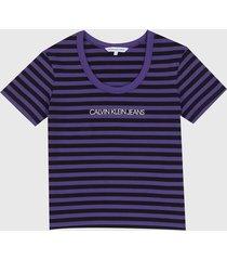 camiseta violeta-negro calvin klein