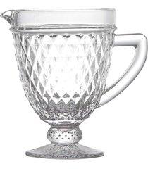jarra de vidro lapidado 1lt - incolor - dafiti