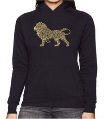 la pop art women's word art hooded sweatshirt -lion