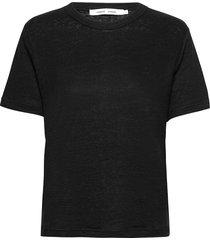 doretta t-shirt 6680 t-shirts & tops short-sleeved svart samsøe samsøe