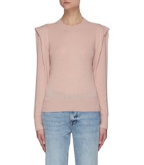 'kennedy' flutter sleeve cashmere sweater