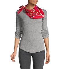 printed silk wraparound square scarf