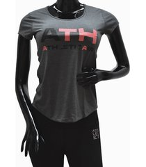 ***camiseta dama-gris  athletic air l