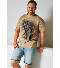 t-shirt men plus beige