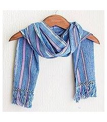 cotton scarf, 'cielo azul' (guatemala)
