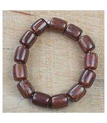 recycled plastic beaded stretch bracelet, 'beautiful nsa se' (ghana)