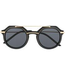 dolce & gabbana eyewear slim round-frame sunglasses - black