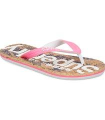 printed cork flip flop shoes summer shoes flip flops rosa superdry
