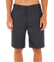 """hurley men's black suit stretch 21"""" chino shorts"""