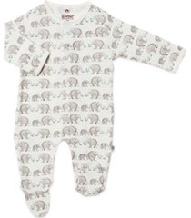 baby boy or girl forget me not magnetic footie one piece