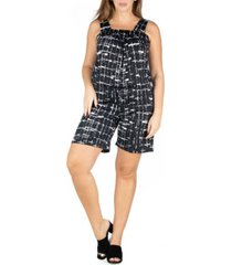 24seven comfort apparel women's plus size sleeveless romper