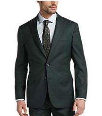 joe joseph abboud dark green sharkskin slim fit suit
