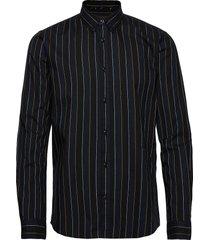 stripe l/s oxford shirt skjorta casual svart junk de luxe