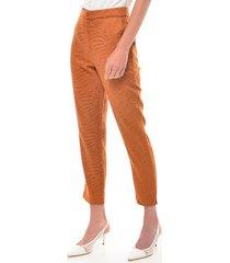 pantalon para mujer en bengalina amarillo color-amarillo-talla-14