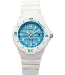 reloj blanco-azul casio