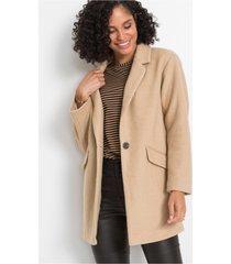 korte coat met wol, oversized