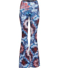 onzie women's bell flare yoga pants - 4th tie dye sm spandex