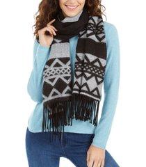 calvin klein striped fair isle blanket scarf