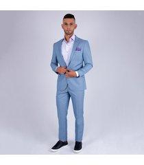 traje formal linea europa para hombre pierre d'agostiny azul celeste