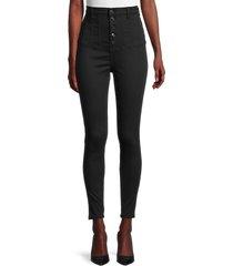 neon blonde women's high-rise skinny jeans - black - size 25 (2)