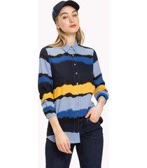 blusa regular ray multicolor tommy hilfiger
