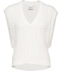 rawangz waistcoat hs20 knitwear vests-indoor vit gestuz