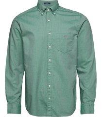 reg oxford bd skjorta casual grön gant