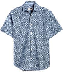 joseph abboud blue diamond modern fit short sleeve sport shirt