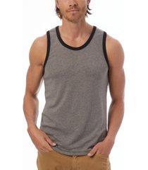 alternative apparel men's keeper vintage-like jersey ringer tank top