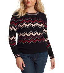 jessica simpson trendy plus size marcelina striped sweater