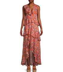 floral-print ruffle maxi dress