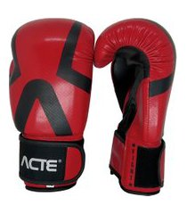 luva de boxe acte premium vermelha e preta