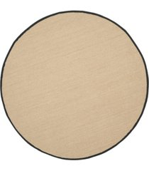 safavieh natural fiber maize and black 6' x 6' sisal weave round rug