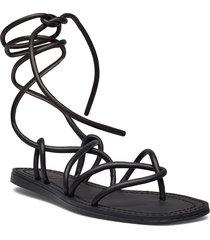 turtle shoes summer shoes flat sandals svart mango